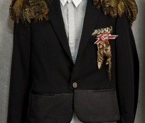 Brandon Flowers Feathered Dior Jacket