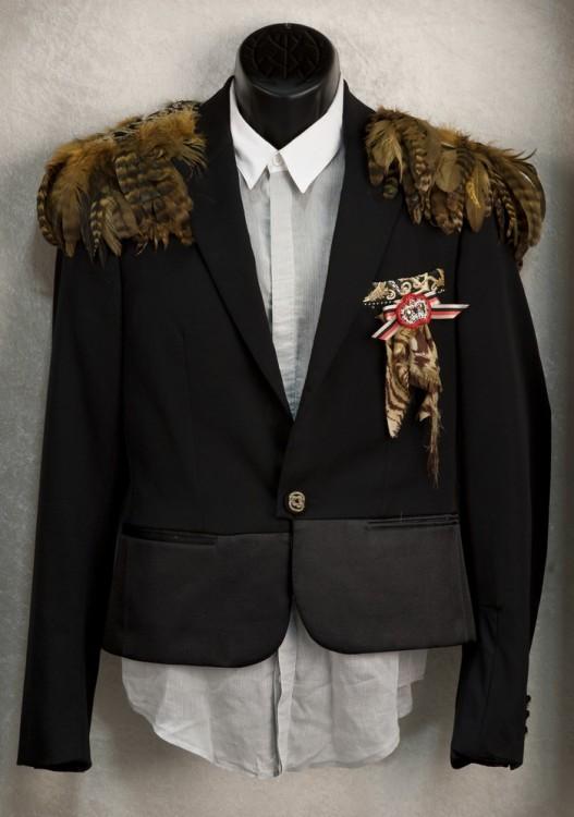 Brandon Flowers Feathered Dior Jacket