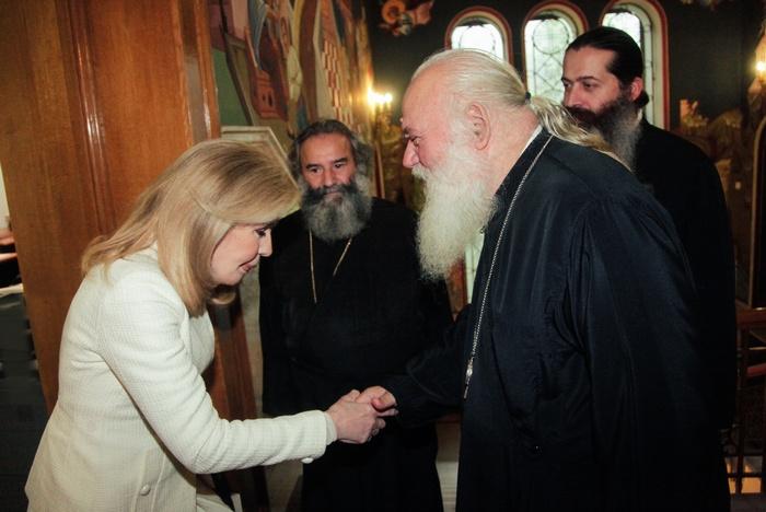 Μαριάννα Β. Βαρδινογιάννη, Αρχιεπίσκοπος Αθηνών και Πάσης Ελλάδος κ.κ. Ιερώνυμος