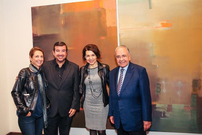 Στέλλα Μελετοπούλου, Τάκης Μαυρωτάς, Χρύσα Βέργη, και ο Πρόεδρος του ΔΣ της Εθνικής Πινακοθήκης κ. Απόστολος Μπότσος