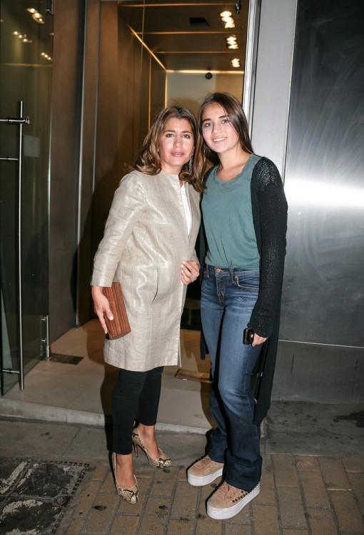 Η Γιασμίν Οικονομοπούλου με την κόρη της, Ντάνα