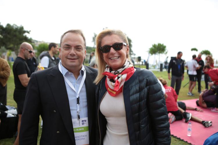 Γρηγόρης Κωνσταντέλλος , δημαρχος Βάρης Βούλας Βουλιαγμένης και Μαρία Σταυρίδη, owner/non executive chairman The Margi Hotel