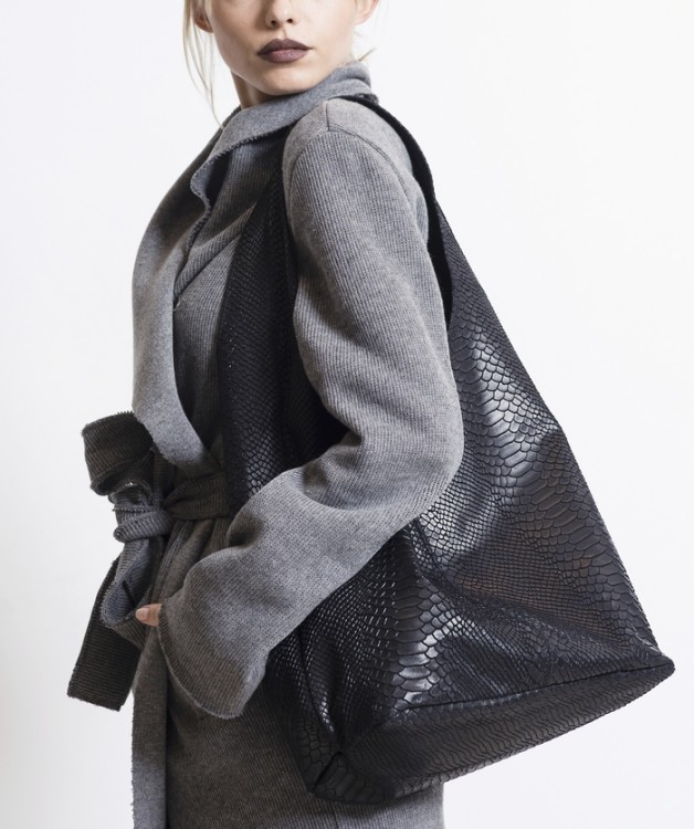 PYTHON LARGE BLACK BAG