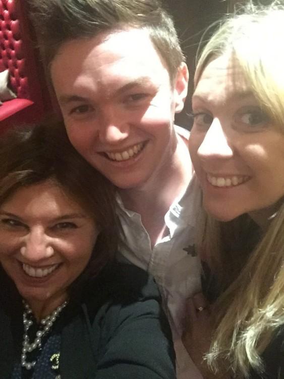 Με την Olivia McMonagle και τον Tom Thompson στο The Map Room του Claridges