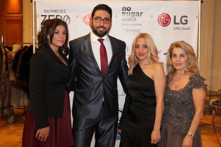 Ευγενία Ιορδάνη, Δημήτρης Ιορδάνης-κοσμηματοπωλείο Iordanis (Χορηγός της Βραδιάς), Τζώρτζια Σταυροπούλου-Lg Electronics (Χορηγός της Βραδιάς), Ντίνα Σιώρα.