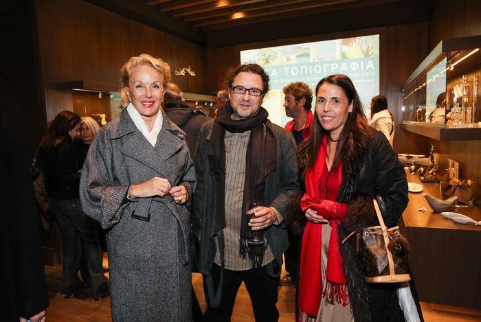 Η Ντέλα Ρούνικ με τον ζωγράφο και γλύπτη Βαγγέλη Ρήνα και την ζωγράφο Λίνα Πηγαδιώτη