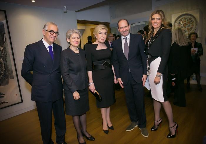 Metin Arditi, Irina Bokova, Μαριάννα Β. Βαρδινογιάννη, Γιώργος και Χριστιάννα Γουλανδρή