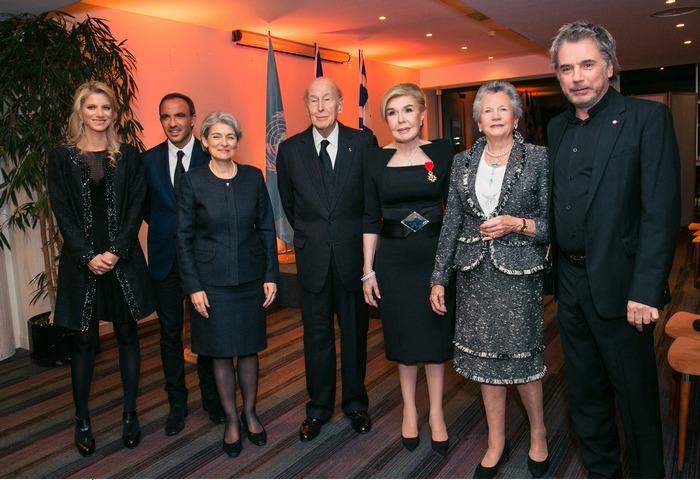 Αλεξία Βαρδινογιάννη, Νίκος Αλιάγας, Irina Bokova, Valery Giscard d' Estaing, Μαριάννα Β. Βαρδινογιάννη, Anne Aymone d' Estaing, Jean Michel Jarre