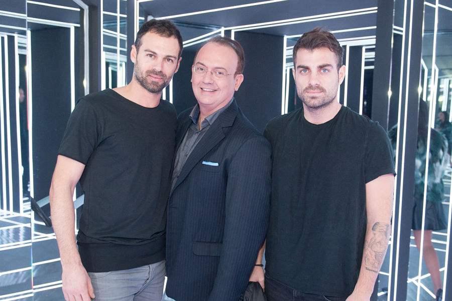 Γιάννης Καζανίδης με τον Κώστα Γκρέκα και τον Στέλιο Χανταμπάκη
