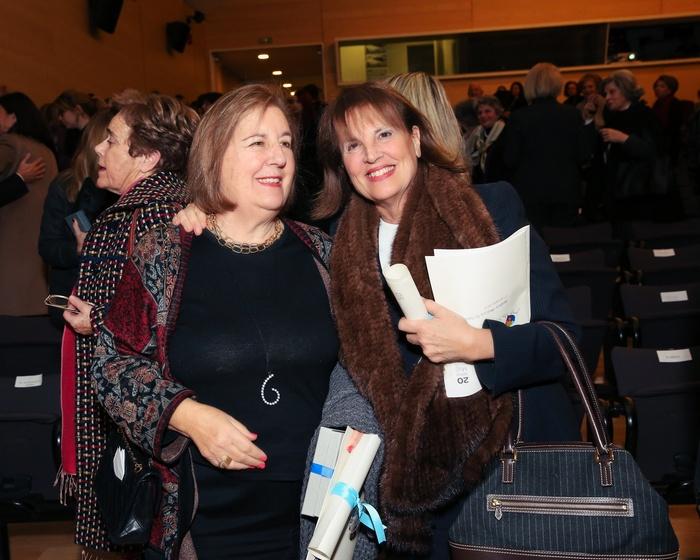 Μαίρη Καρέλλα-Διαμαντοπούλου, επίτιμη Πρόεδρος ΕΛΕΠΑΠ, τιμώμενη για την προσφορά της στα 20 χρόνια της Ένωσης και Κάρεν Μαυρίδη, Δια Βίου Επίτιμη Πρόεδρος της Ένωσης «Μαζί για το Παιδί», τιμώμενη για τα 20 χρόνια προσφορά της.