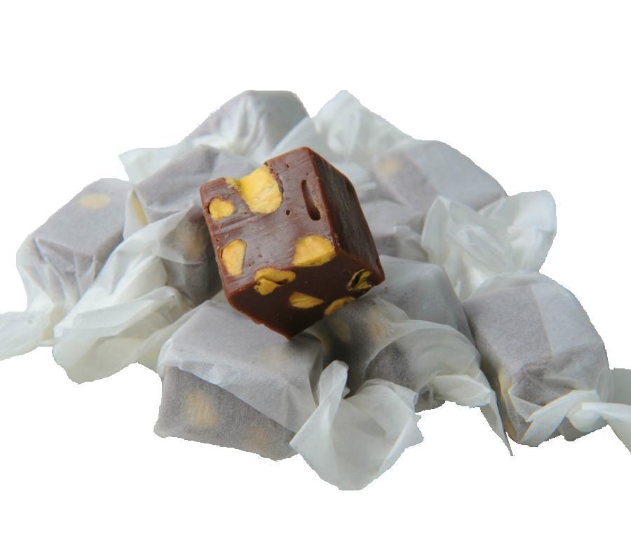 Καραμέλες σοκολάτα-φιστίκι....