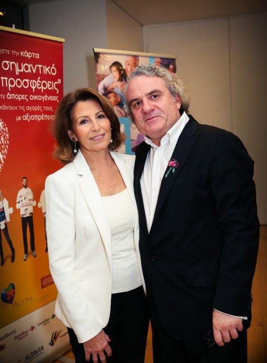 Άννα Ανδρεάδη, Γενική Γραμματέας της Ένωσης «Μαζί για το Παιδί» και ο σκηνοθέτης Αντώνης Κιούκας