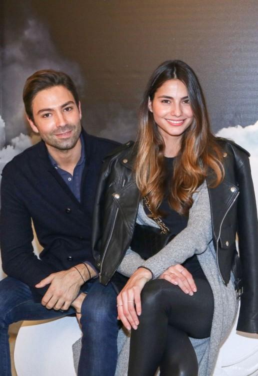 Ο Αντώνης Βοεράκος με την Ελληνίδα top model Ιλιάνα Παπαγεωργίου που ανήκει στο πρακτορείο Ford και κάνει διεθνή καριέρα