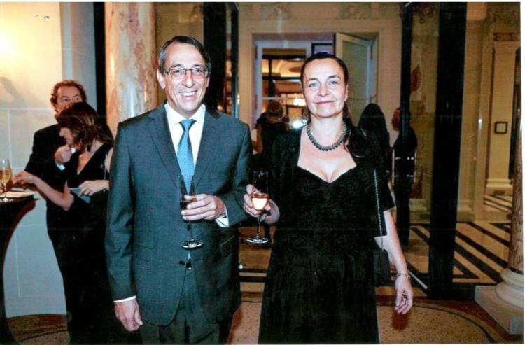 PATRICK DE BRON DE LAURIERE, MONA HOUPHOUET BOIGNY
