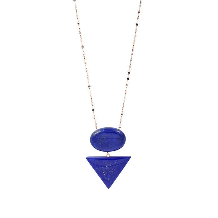 Κοσμήματα από χρυσό 18Κ και lapis lazuli Σχεδιασμός : Lito | € 440,00