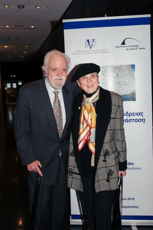 Ο κ. Σπύρος Μερκούρης και η σύζυγός του