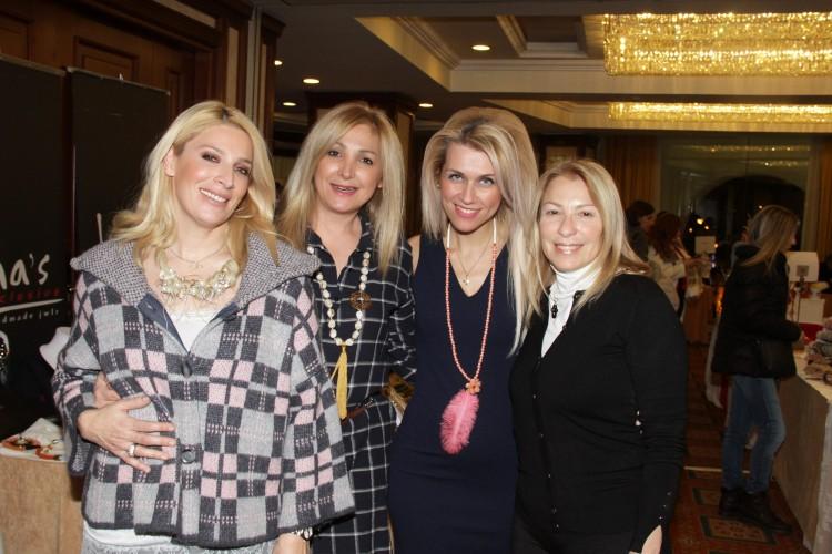 Ραλλιώ Λεπίδου, η Πόπη Μαρτάκη, η Λίνα Τουπεκτσή της Lina's Exclusive & η Μαρία Διαλυνά