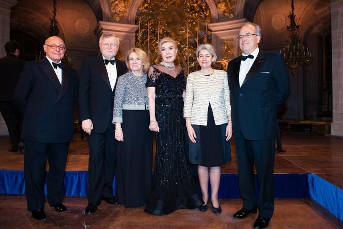 Dr Peter Harper, Dr Gabriel Hortobagyi, Catherine Pegard, Μαριάννα Β. Βαρδινογιάννη, Irina Bokova, David Khayat
