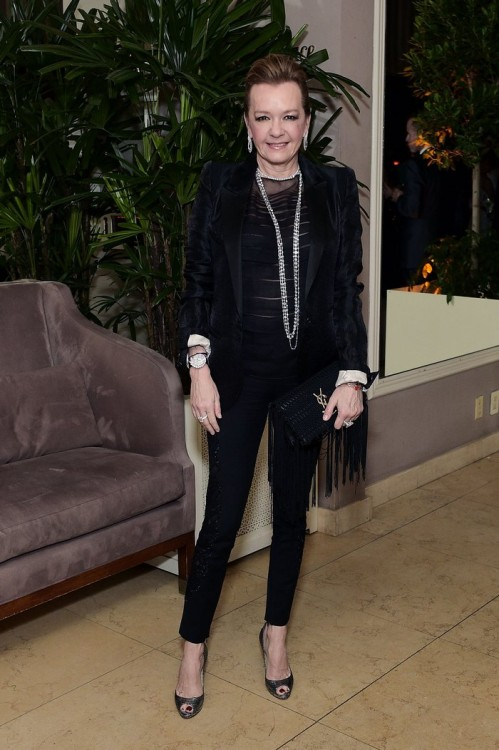 WEST HOLLYWOOD, CA - FEBRUARY 26: Caroline Scheufele attends an intimate dinner celebrating ChopardÕs Journey to Sustainable Luxury hosted by Colin & Livia Firth and Caroline Scheufele on February 26, 2016 in West Hollywood, California. (Photo by Stefanie Keenan/Getty Images for Chopard) *** Local Caption *** Caroline Scheufele
