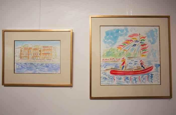 Τα λουλούδια του αγρού με πρώτη την ανεμώνα είναι τα αγαπημένα μου και οι Ρεγκάτες του Matisse και του Dufy με ενέπνευσαν για να ζωγραφίσω κάποιες σκηνές από της Ρεγκάτες των Σπετσών.