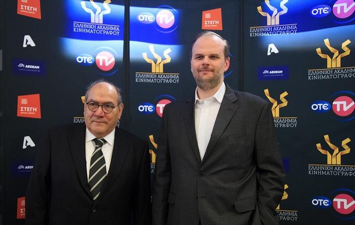 Αλέξανδρος Χριστογιάννης (Υποδιευθυντής κινηματογραφικών & θεματικών καναλιών του ΟΤΕ TV), Βασίλης Κατσούφης (Πρόεδρος της Ελληνικής Ακαδημίας Κινηματογράφου