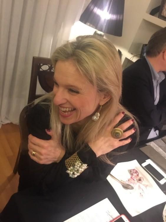 H Βανέσσα Γερουλάνου με κοσμήματα από τη νέα της συλλογή