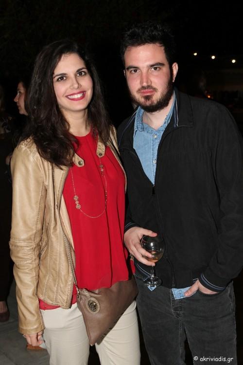 Ο Αιμίλιος Χαρμπής και η Βίβιαν Μελικόκη