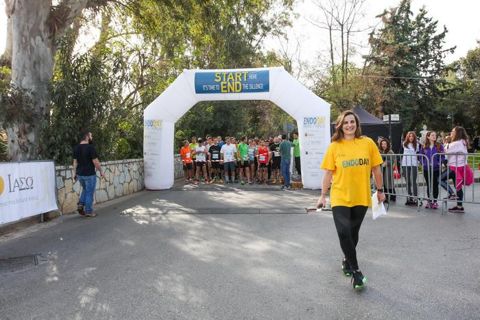 """Η Τζωρτζίνα Χείλαρη, ψυχή της όλης διοργάνωσης και """"υπεύθυνη"""" για την τεράστια επιτυχία του EndoDay Run/Walk!"""