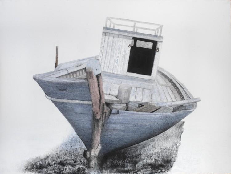 Σ.Σόρογκας,Παλιό καΐκι στην παραλία των Αβδήρων,150x200εκ
