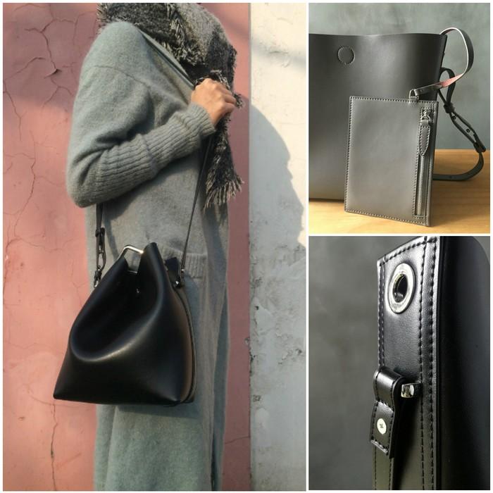 ok Beckie Leather Bucket Bag-myuz