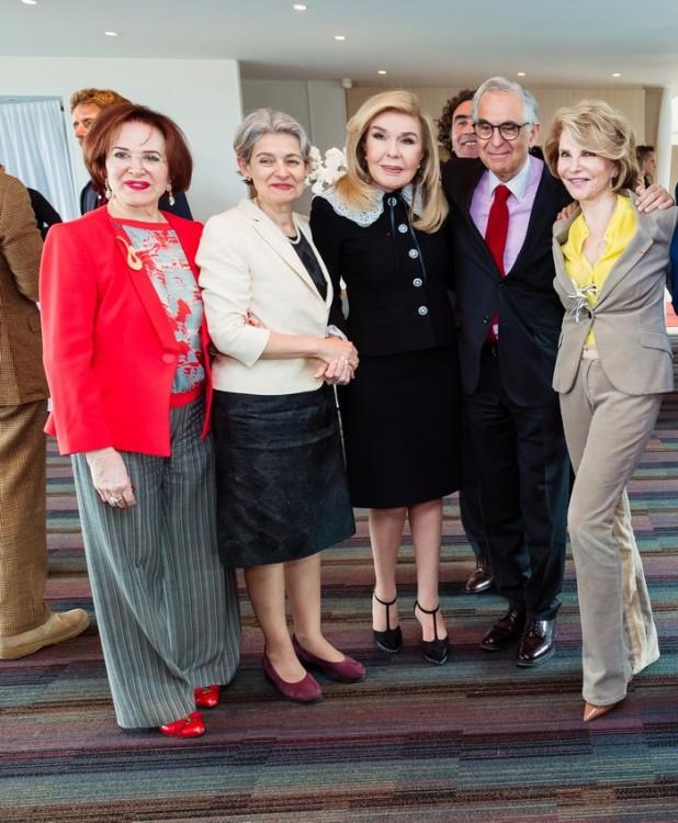 Maha El-Khalil Chalabi, Irina Bokova, Μαριάννα Β. Βαρδινογιάννη, Metin Arditi, Hedva Ser