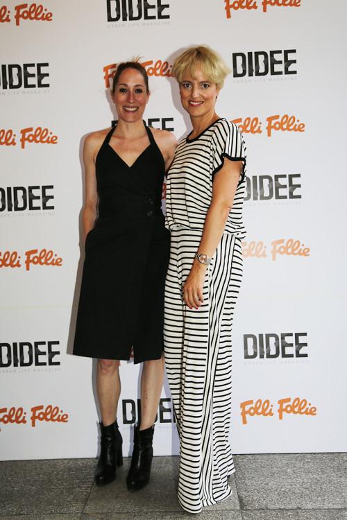 Η ηθοποιός Κόρα Καρβούνη με την σχεδιάστρια Ορσαλία Παρθένη