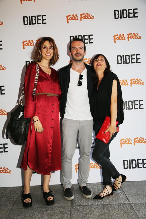 Η Ναταλία Μπαλτά, με τον Δημήτρη Τσακούμη και τη Λία Κούμα
