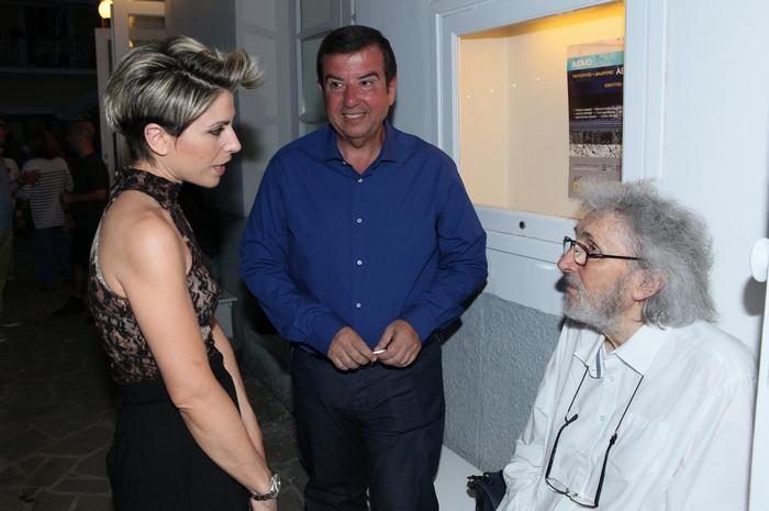 Η Λητώ Μησιακούλη, ο Τάκης Μαυρωτάς και ο ζωγράφος Σωτήρης Σόρογκας