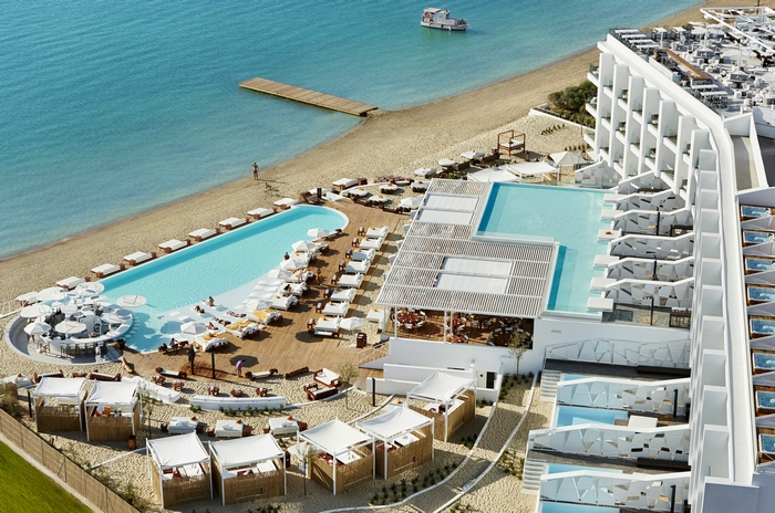 The Nikki Beach Resort & Spa is a high- end lifestyle hotel and yacht club in exclusice Porto Heli