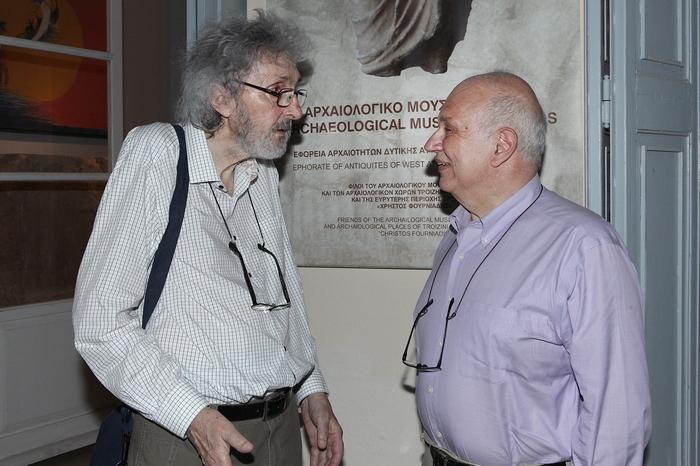 Ο ζωγράφος Σωτήρης Σόρογκας και ο Σπύρος Πολλάλης