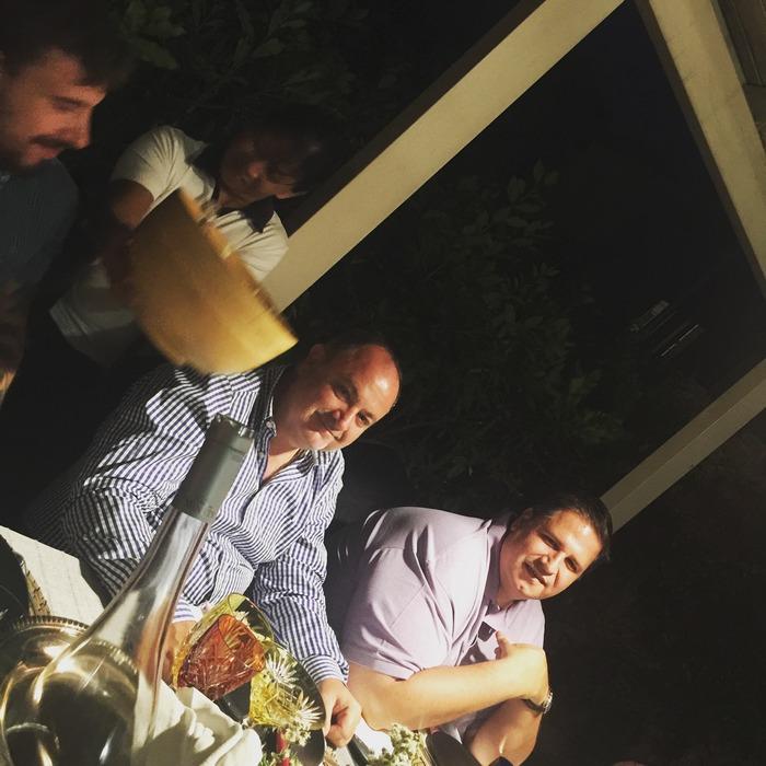 Ο Πάνος Δεληγιάννης με τον Global Sales Director της Diageo, Τάσο Ευαγγέλου