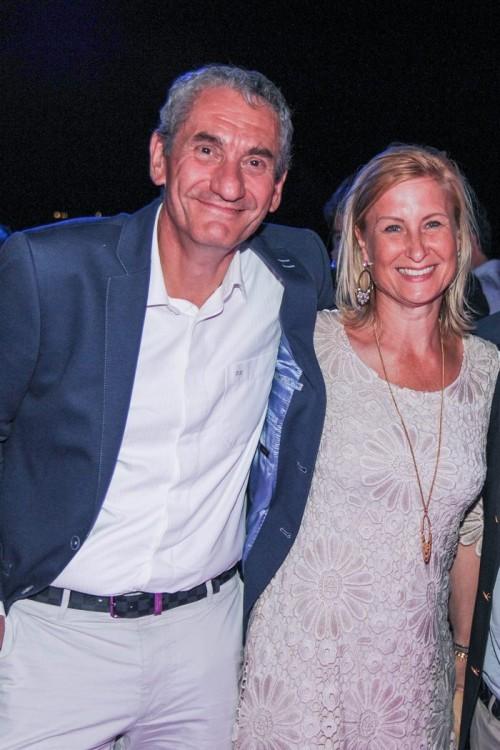 Ο Πρόεδρος Ιπποδρομίες Kamil Ζiegler με τη σύζυγο του Milena