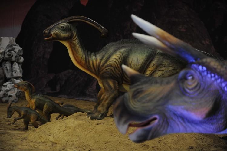 Τriceratops and Parasaurolophus