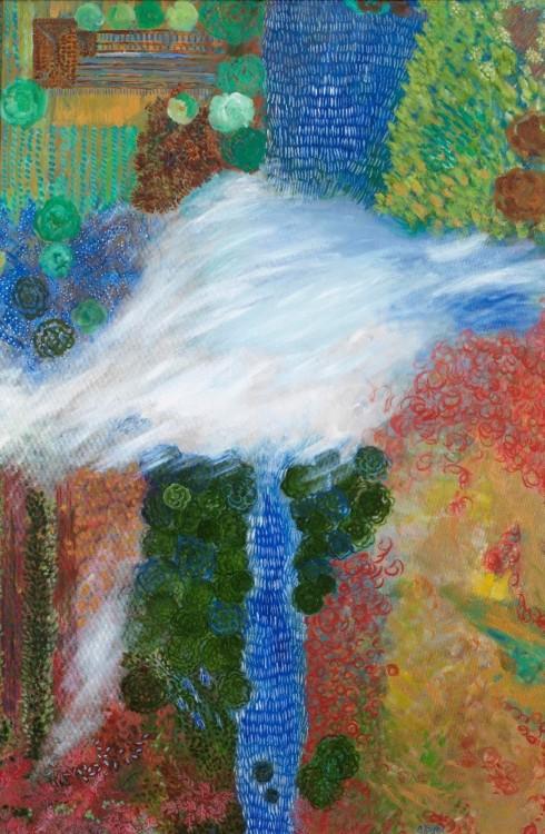ΠΛΟΥΣ - The balloon flight, oil on canvas, 150x100cm, 2016