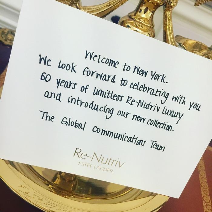 Το κομψό καλωσόρισμα από το Global Communication Team της Estée Lauder...