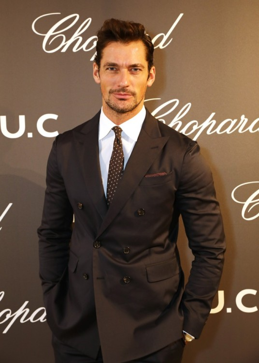 LONDON, ENGLAND - OCTOBER 11: David Gandy attends the cocktail opening of the Chopard exhibition 'L.U.C - L'art d'une Manufacture' at Phillips Gallery on October 11, 2016 in London, England. Pic Credit: Dave Benett
