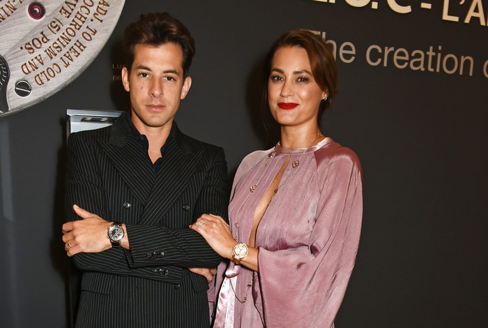 LONDON, ENGLAND - OCTOBER 11: Mark Ronson (L) and Yasmin Le Bon attend the cocktail opening of the Chopard exhibition 'L.U.C - L'art d'une Manufacture' at Phillips Gallery on October 11, 2016 in London, England. Pic Credit: Dave Benett