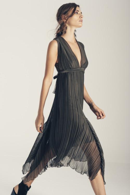 Φόρεμα πλισέ Demetra