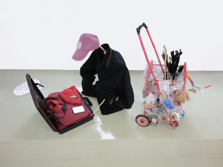 Giorgos Gerontides, Casual Clothing Is Allowed At This Job, 2016, mixed media installation, dimensions variable
