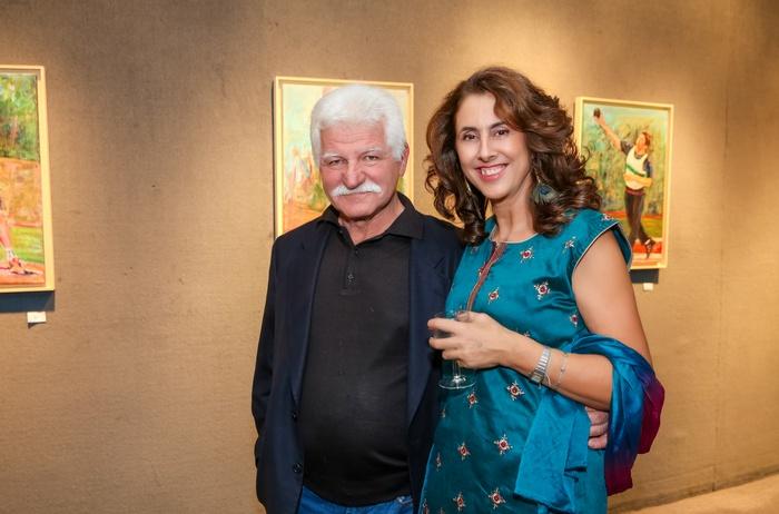 Ο Γιώργος Βορρές με τη ζωγράφο Αθηνά Χατζή