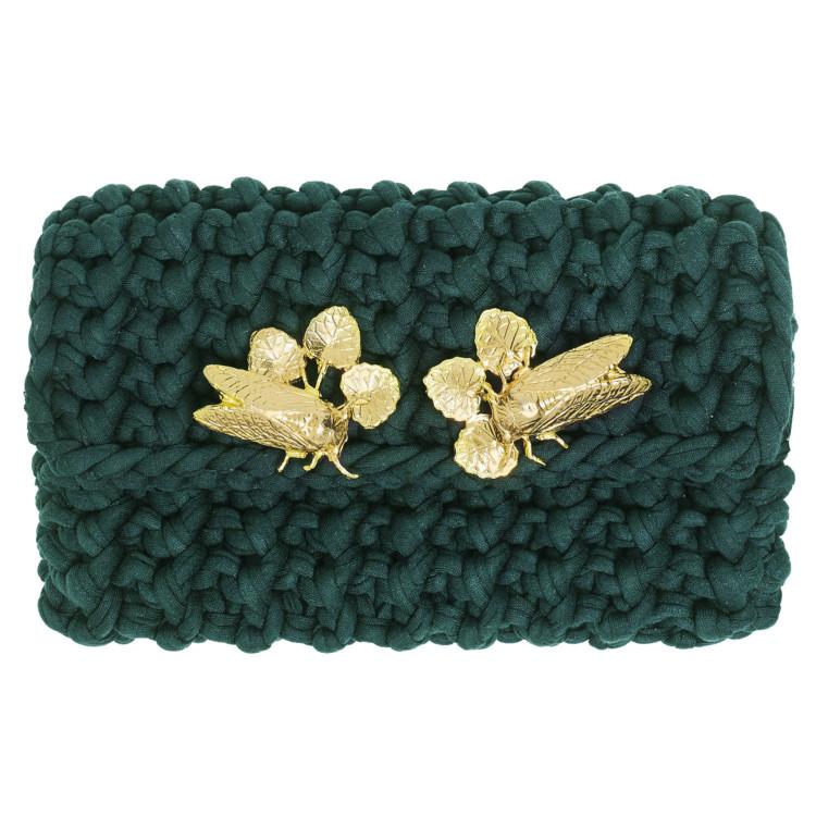 clutch long CRICKETS -emerald green