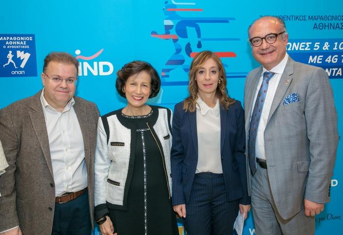 Γιώργος Τσαπρούνης, Διευθυντής Εταιρικών Σχέσεων WIND με την κα Μαριάννα Μόσχου Πρόεδρο της ΕΛΕΠΑΠ, την κα Άννα Γριμάνη, Πρόεδρο του οργανισμού Καρδιές Για Όλους και ο καθηγητής - καρδιοχειρούργος Αυξέντιος Καλαγκός