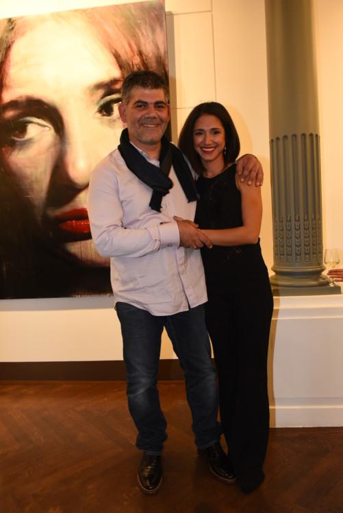 Ο ζωγράφος Σάββας Γεωργιάδης με την σύζυγό του Ελευθερία.