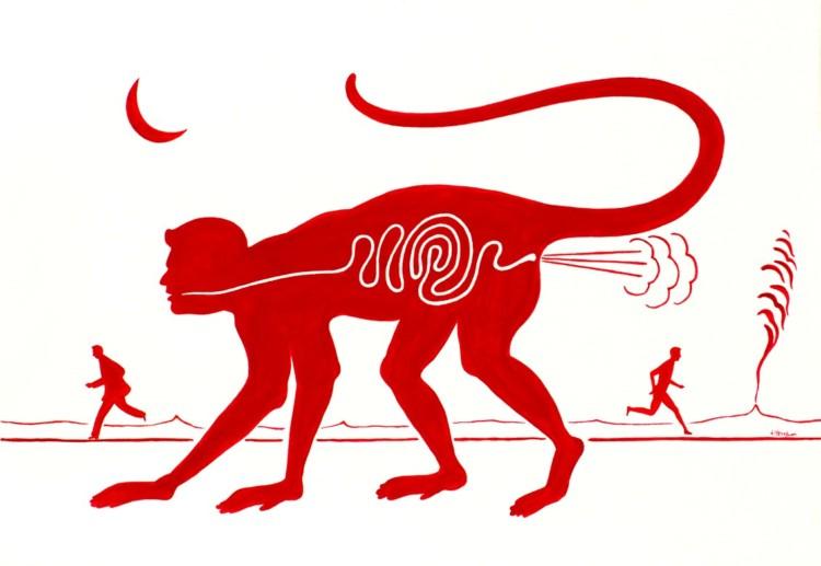 πολιτικόν ζώον, ακρυλικό σε καμβά 35χ50
